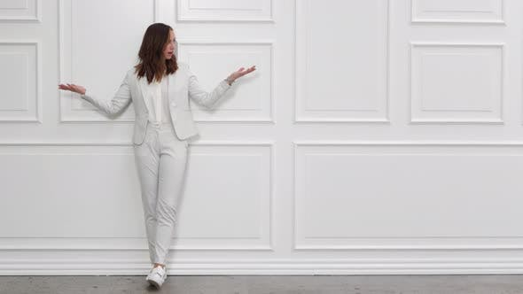 Thumbnail for Bored Businesswoman in White