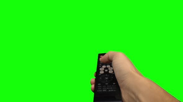 Thumbnail for Remote Control Television Changing One Channel . Green Screen