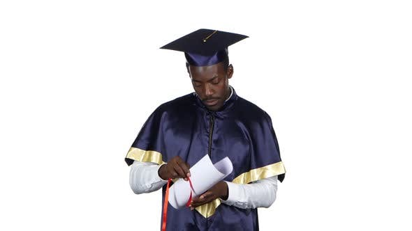 Thumbnail for Graduate Looks Into the Diploma