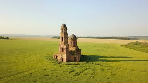 Abandoned Church In Countryside