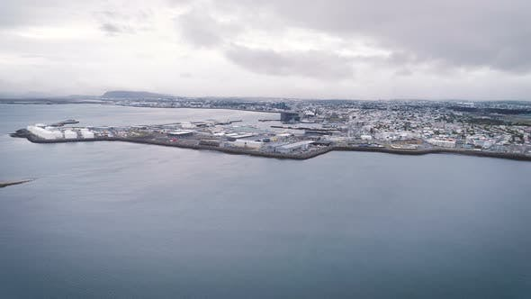 Thumbnail for Aerial View Of Reykjavik City In Iceland