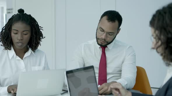 Thumbnail for Multiracial Business Colleagues in Office