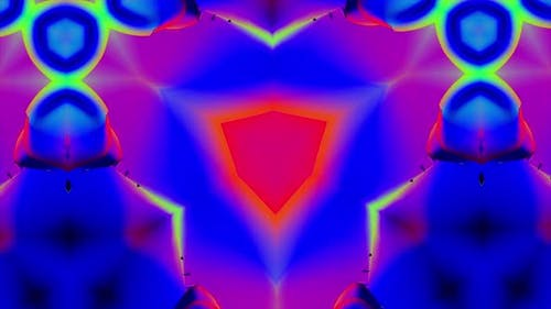 Colorful kaleidoscopic pattern with quickly changing shape
