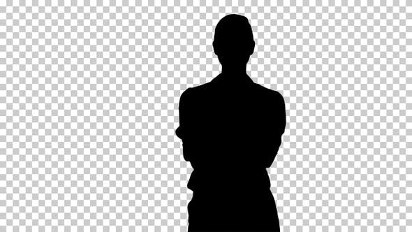 Silhouette  businesswoman , Alpha Channel