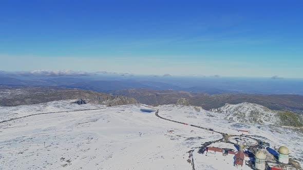 Cover Image for Serra da Estrela Winter Mountain Snow in Portugal
