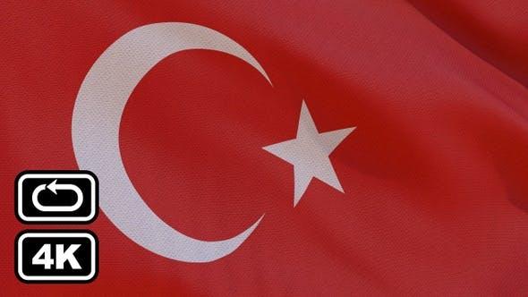 Thumbnail for Turkey Flag 4K Seamless Loop