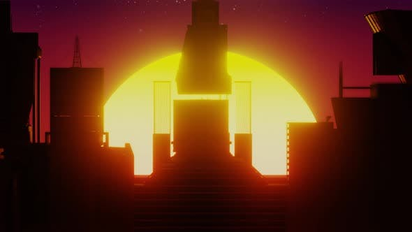 Thumbnail for Sunrise and Sunset Retro Futurim Concept