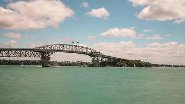 Thumbnail for Auckland Harbour Bridge New Zealand Time Lapse