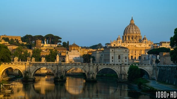Thumbnail for Time Lapse of the Sunrise at the Vatican Cathedral
