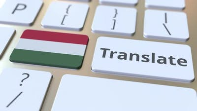 TRANSLATE Text and Flag of Hungary on the Buttons