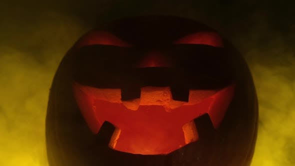 Thumbnail for Halloween Pumpkin in Fog