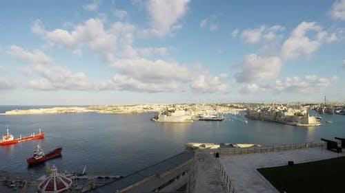 Three Cities as seen from Valletta, Malta