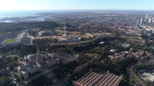 Thumbnail for Barcelona Cityscape Aerial View