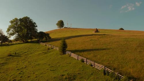Countryside Mountains Landscape in Summer