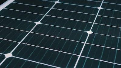 Solar Panel Rotate. Monocrystalline Solar Battery. Solar Energy. Silicon Wafer