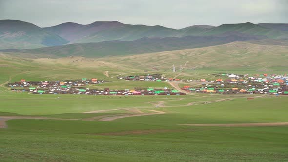 Thumbnail for Colorful Roofed Houses in a Classic Traditional City in Mongolia