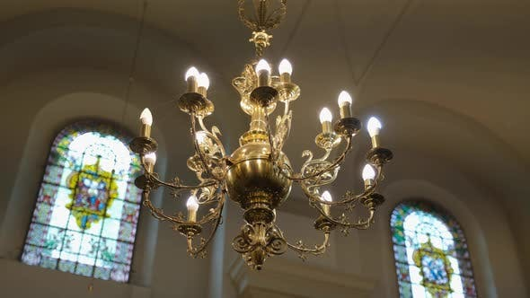 Thumbnail for Large Beautiful Old Chandelier