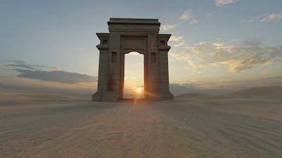 Desert And Opening Door