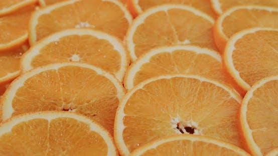Hintergrund der geschnittenen Orangenscheiben