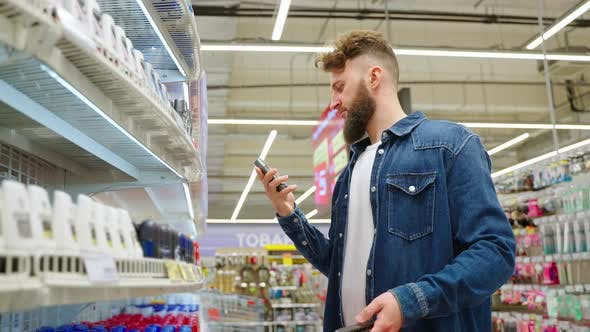 Man Buying Body Care Goods