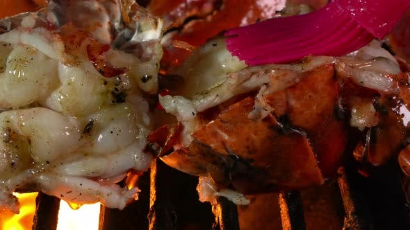 Thumbnail for Butter on Grilling Lobster with Live Flames
