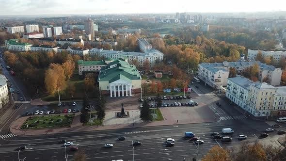 Regional Philharmonic On Lenin Square. City Vitebsk