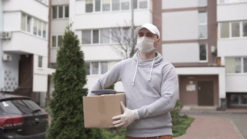 Delivery of parcels during a pandemic to the address.