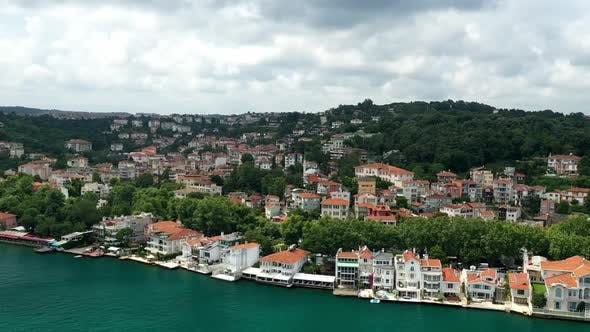Thumbnail for Istanbul Bosphorus And Waterside House Aerial Hyperlapse