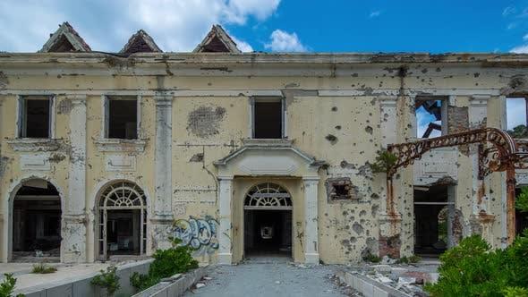 dubrovnik bombed building war balkans conflict
