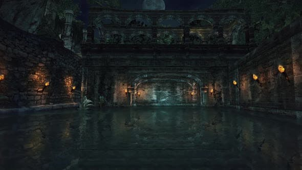 Epic Destroyed Castle