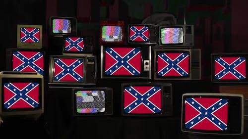 Rebel Confederate Flag and Retro Televisions.