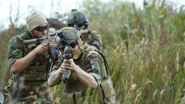 Thumbnail for Military Group Walking through Grass