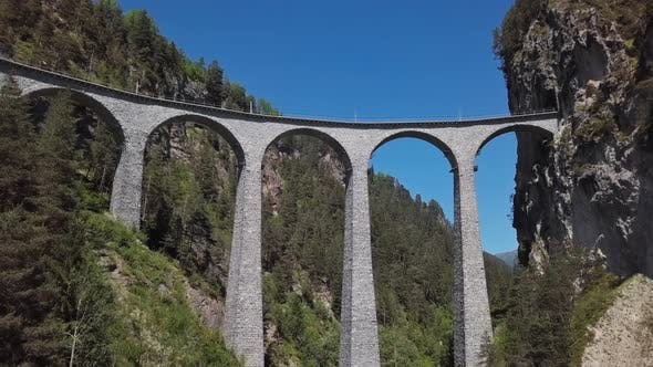Thumbnail for Aerial View of Landwasser Viaduct, Switzerland