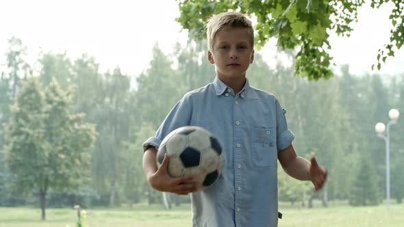 Thumbnail for Boy Posing with Football