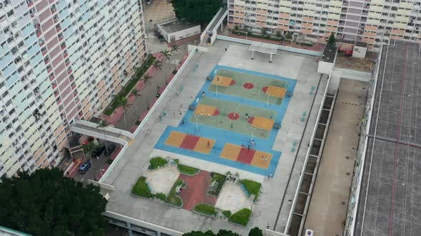Thumbnail for Top view of Hong Kong residential district, choi hung estate