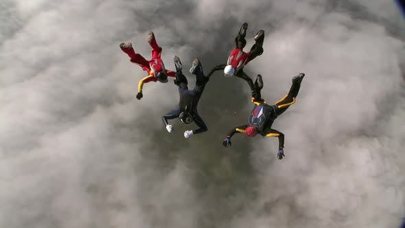 Thumbnail for Skydiving video. The concept of active recreation.
