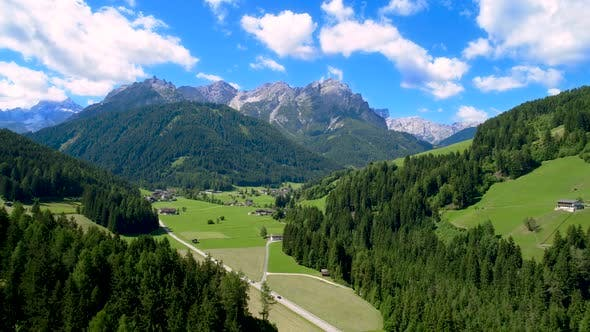 Scenic View of the Landscape in the Alps