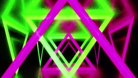 Thumbnail for Dreieck buntes Licht 4k