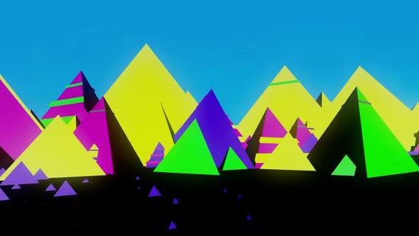 Thumbnail for Abstract Colorful Pyramid 4k