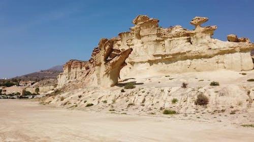 Felsformationen Erosionen von Bolnuevo