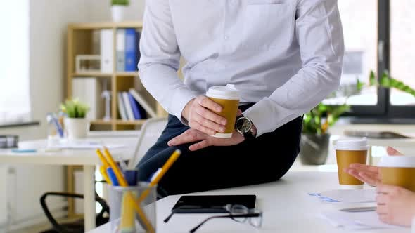 Thumbnail for Business Team Drinking Coffee at Office