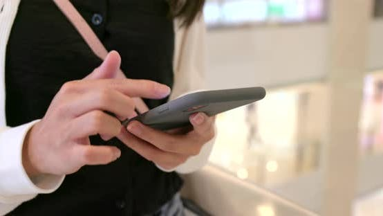 Thumbnail for Close up of Woman use of smart phone