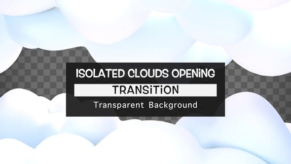 Isolated Clouds Opening Transition