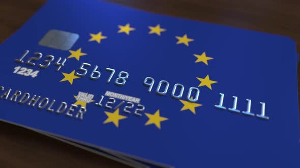 Thumbnail for Plastic Bank Card with Flag of the European Union