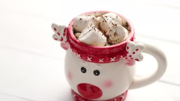 Thumbnail for Homemade Christmas Hot Chocolate or Cocoa with Marshmallows