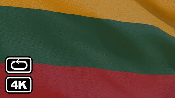 Thumbnail for Lithuania Flag 4K Seamless Loop