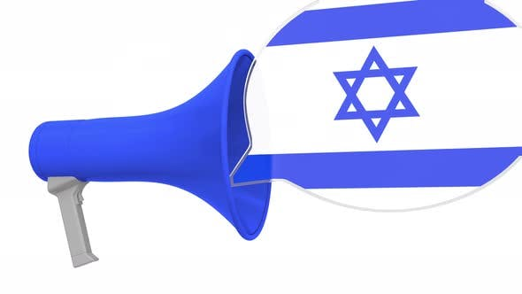 Thumbnail for Loudspeaker and Flag of Israel on the Speech Bubble