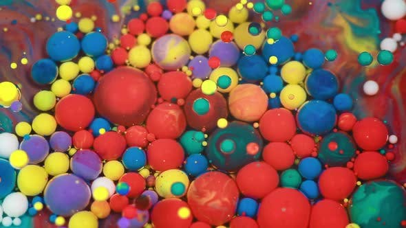 Abstract Multicolored Bubbles Paint
