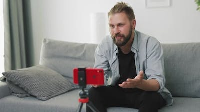 Influencer Recording Video on Smartphone