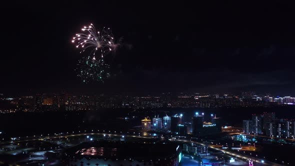 Cover Image for Festive Fireworks over the Night City